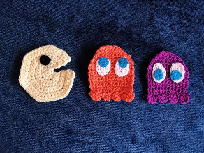 Porte-serviettes Fantôme Pacman-Voilà une porte serviette original