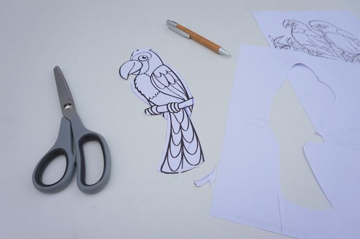Un perroquet sur sa pique-Etape 1 : Le moule