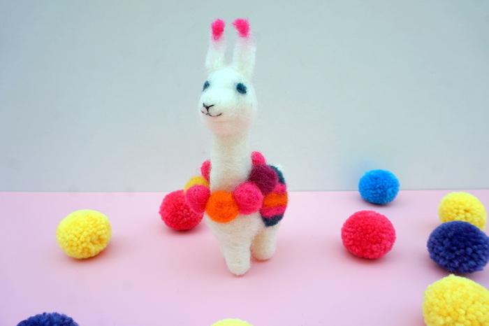 Alpaga en laine cardée-Les finitions
