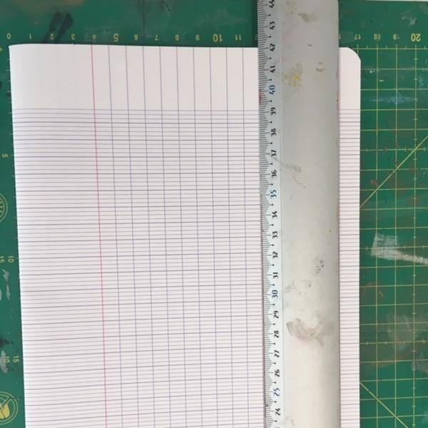 Un cahier d'écolier transformé en carnet de notes-ETAPE 1: création de signature et couverture