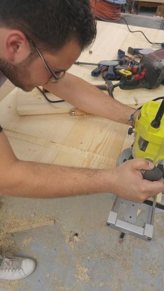 Table Ulko-Préparer les matériaux