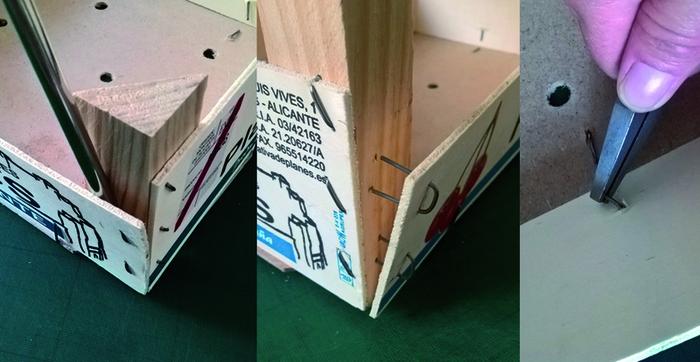 La lampe baladeuse (avec une cagette et sans clous ni vis)-Préparation du matériel