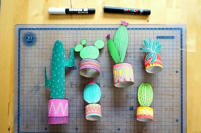Cactus de récup'-Peindre et décorer