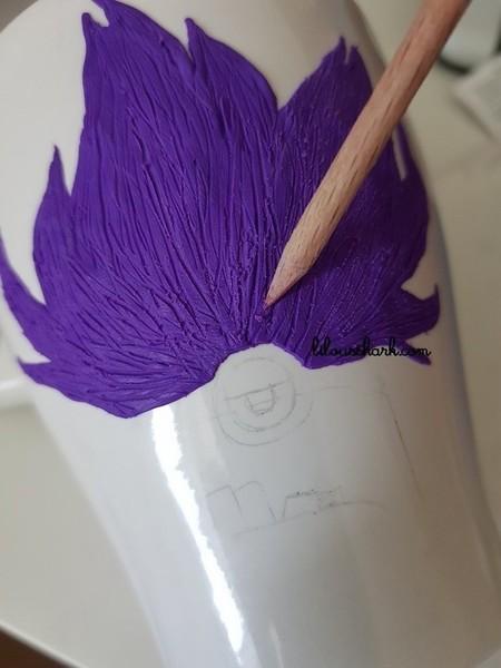 Mon Mug Licorne en FIMO (+ variantes)-Etape pour la variante Evil Minion