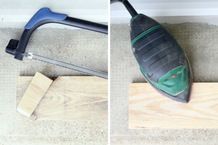 Réalise ton miroir industriel (upcycling)-Préparer le bois