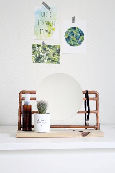 Réalise ton miroir industriel (upcycling)-Le miroir est terminé !