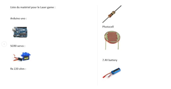 Laser game-Le matériel