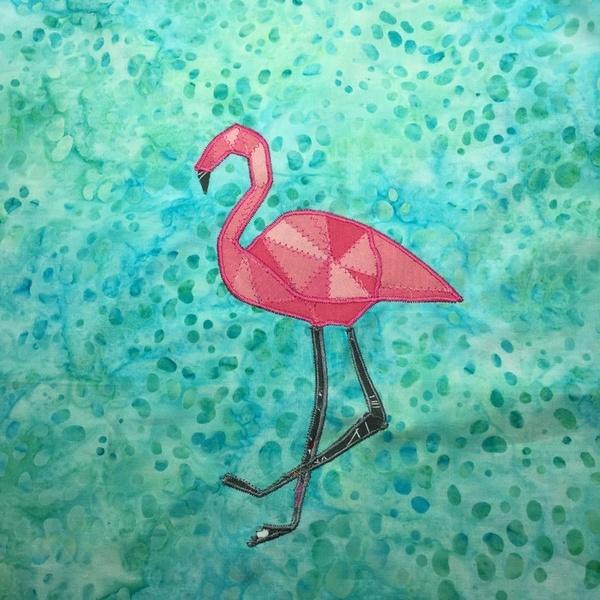 Le Flamant Rose du Tote Bag- on sécurise notre oiseau