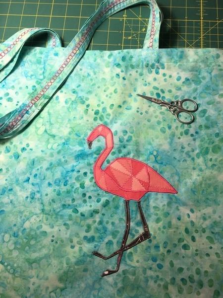 "Le Flamant Rose du Tote Bag-on se proclame ""Ninja"" du tote bag Flamant Rose"