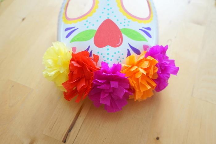 Masques Calavera & Luchador-La couronne de fleurs