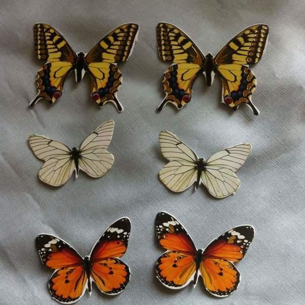 """Cloche """"Autour des papillons"""".-3. Ajouter les papillons."""