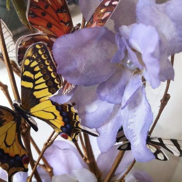 """Cloche """"Autour des papillons"""".-5. Clocher l'ensemble."""