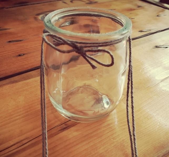 """Tutoriel DIY """"Le bois fleuri""""-La suspension des pots en verre : Confection & Résultat"""