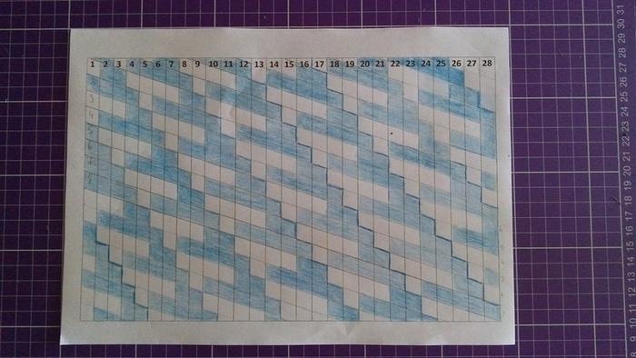 Tableau tissé avec du biais-Tissage de la deuxième épaisseur en diagonale