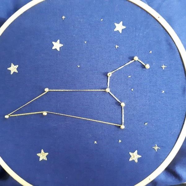 Broderie constellation étoilée-Décoration de la broderie