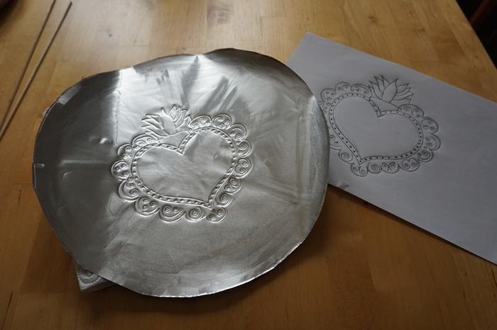 Cœur sacré mexicain-Reproduire le dessin