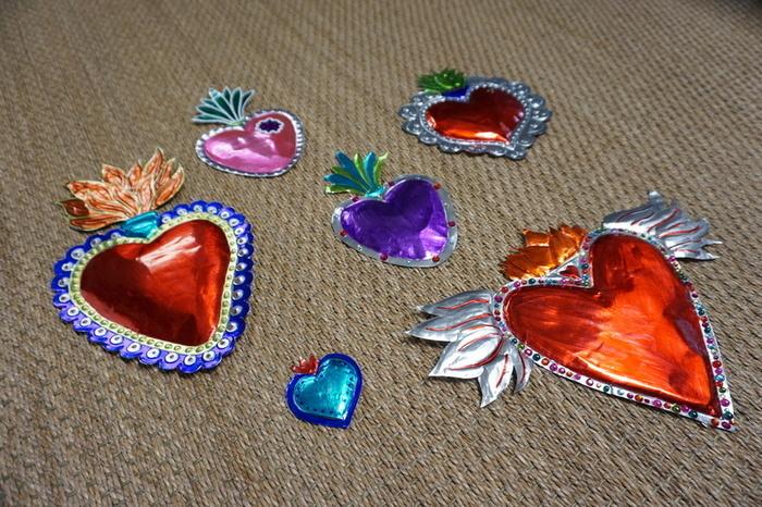 Cœur sacré mexicain-Les couleurs