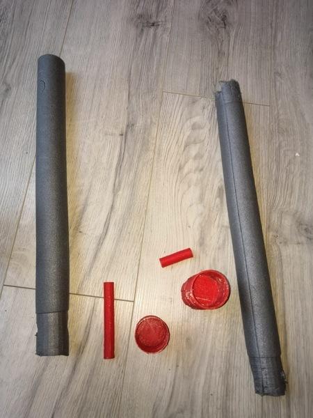 Epée pour enfant en mousse-Assemblage des épées
