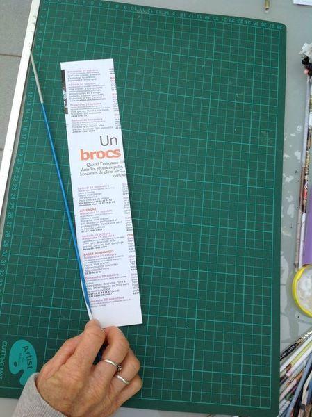 Panier pour chat en papier recyclé-Découper, rouler, coller vos baguettes de papier