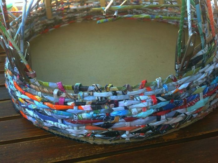 Panier pour chat en papier recyclé-Faire la porte du panier