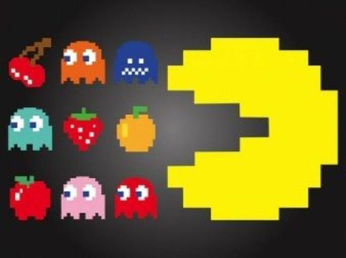 Jeu Pac Man version labyrinthe géant-Décoration du labyrinthe