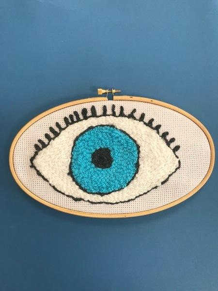 DIY : Oeil mystique en punch needle-Et voilà un super oeil en punch needle !