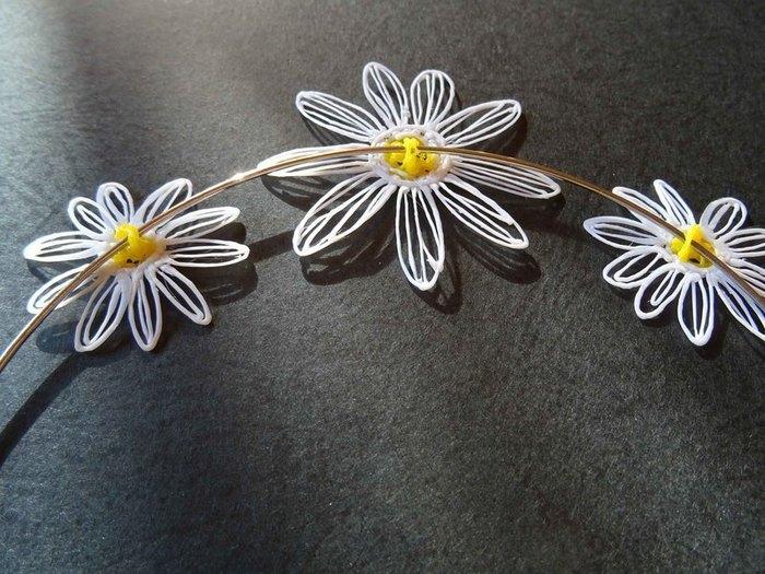 """Collier et bague""""Marguerite"""" (au stylo 3D)-Le collier"""