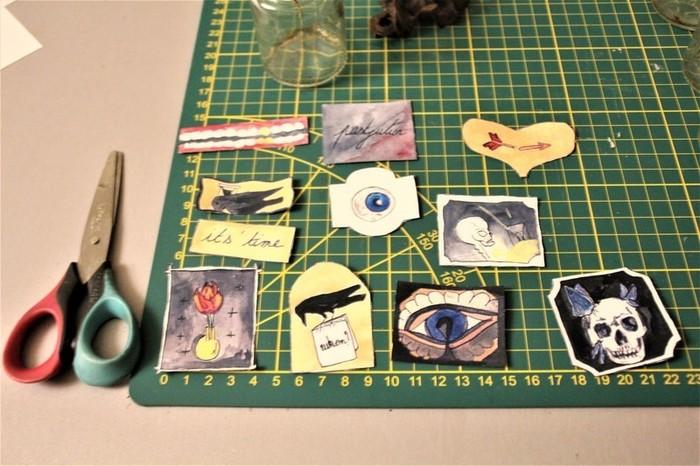Guirlande lumineuse Memento mori, des fioles pour votre cabinet de curiosité.-Fabrication des étiquettes