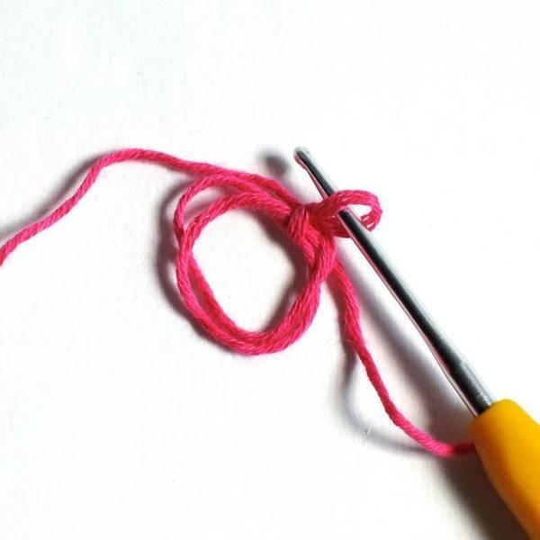 Mini cache-pot crocheté-La base
