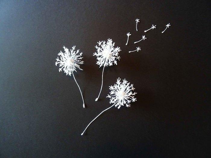 """Broche """"Pissenlit"""" (au stylo 3D)-Le petit plus"""