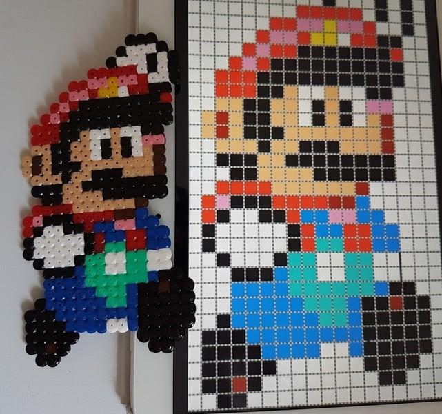 Support de bougie Mario-Etape 2: Le repassage