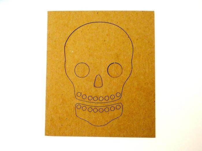Crâne Frida-Peinture