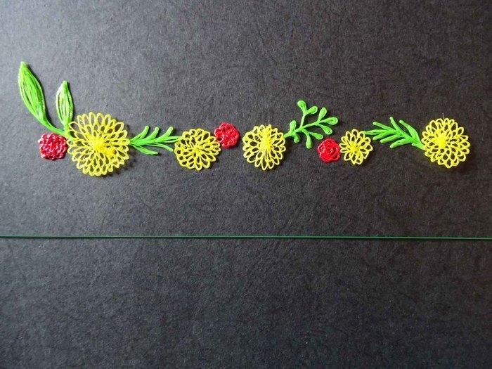 Bracelet fleuri au stylo 3D-Montage du bracelet