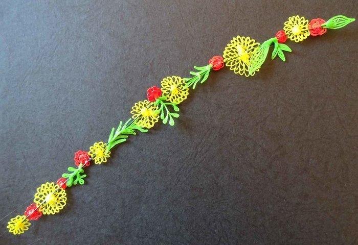 Bracelet fleuri au stylo 3D-Montage, suite