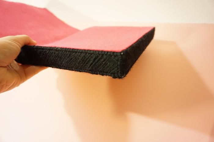 Pochette toucan en canevas-Le montage