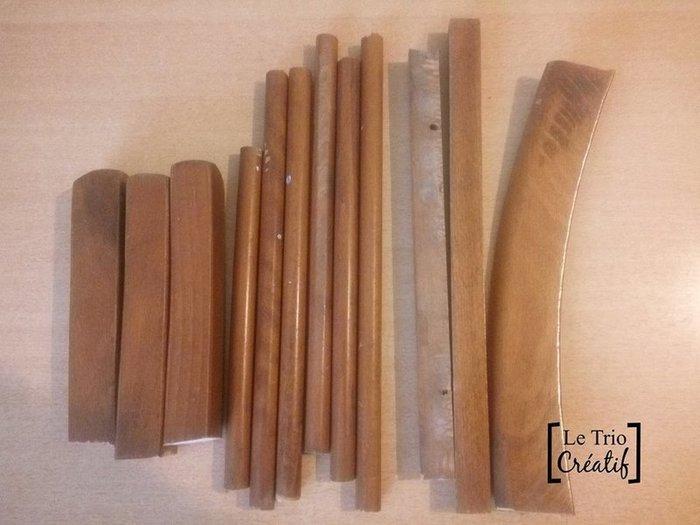 Un rouet en matériaux de récup'-Les étapes