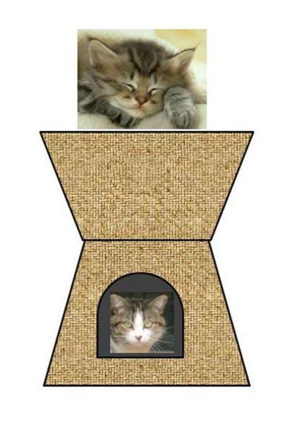 Panier pour chat en papier recyclé-Mon toit de panier