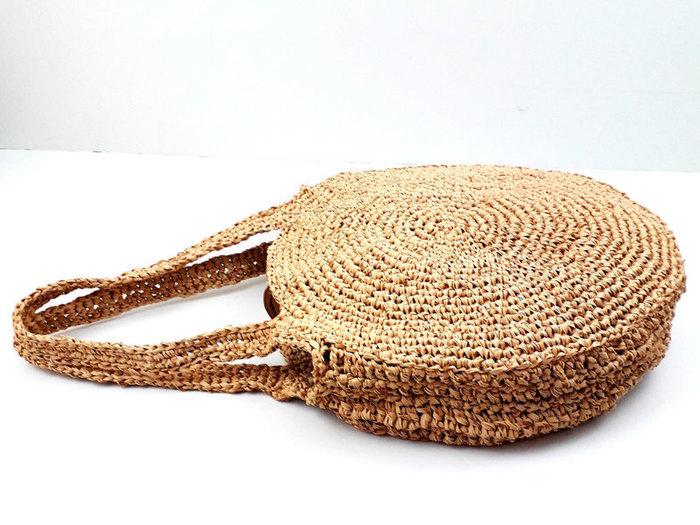 Panier rond aztèque-Assembler les deux moitiés