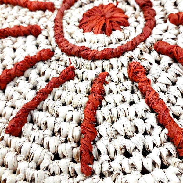 Panier rond aztèque-Broder le motif aztèque