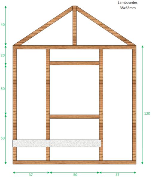 Cabane en palettes pour enfants-Structure des murs