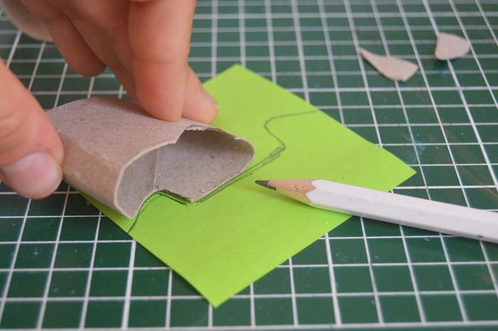 Support de portable DIY -Transférez les traits de coupe