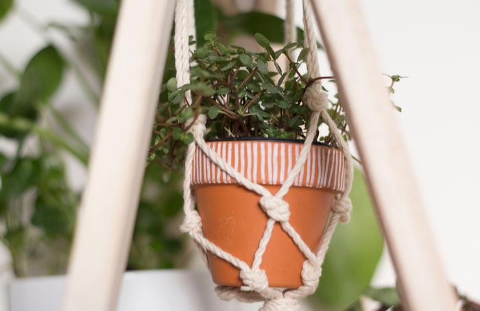 Un jardin suspendu en macramé-ET VOILÀ
