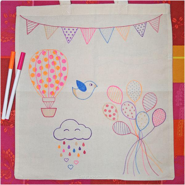 Mon tote bag customisé -Dessiner les autres motifs