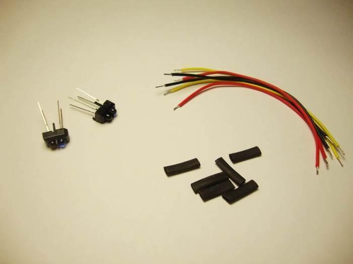 Construisez votre robot Sumobot-Soudage des capteurs infrarouges