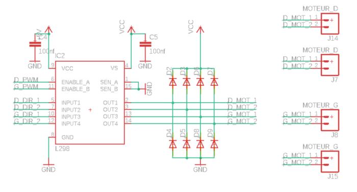 Construisez votre robot Sumobot-Dessin du schéma électronique sur EAGLE