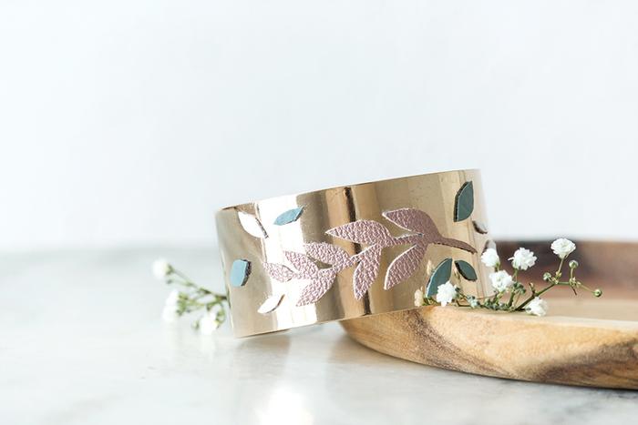 Un bracelet manchette végétal !-