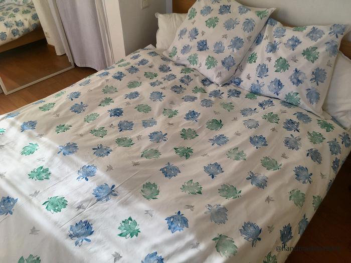 Concevez un tampon pour customiser votre parure de lit-Résultat