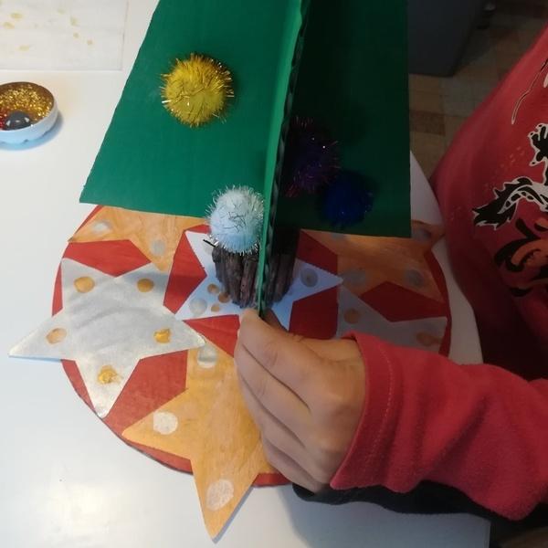 Un centre de table lumineux pour Noël-Le montage