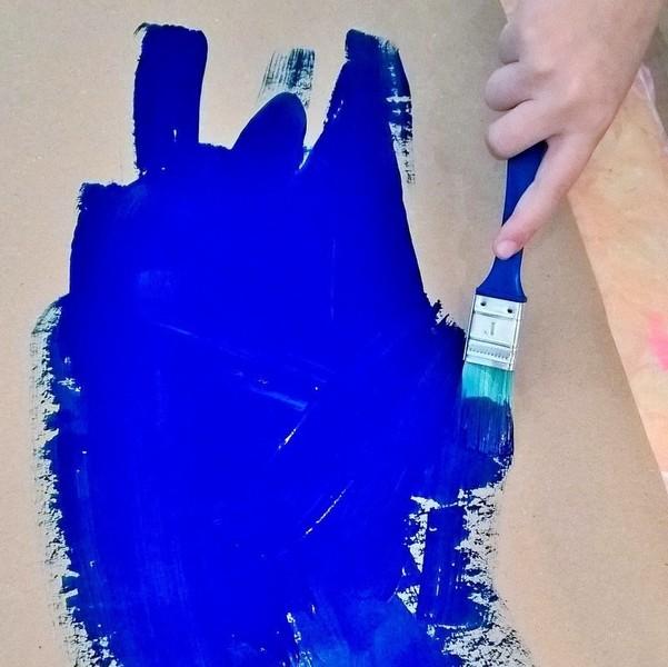 Le calendrier de l'Avent étoilé (et ses surprises à gratter)-On commence par la peinture!