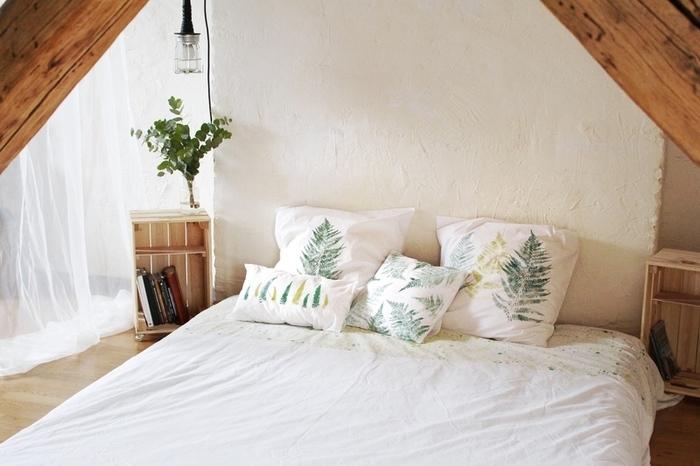 Linge de lit façon herbier-Votre linge de lit façon herbier est terminé !
